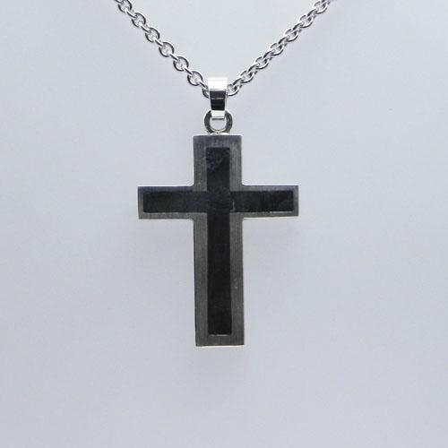 Kreuz aus Silber mit Carbon, Kundenanfertigung