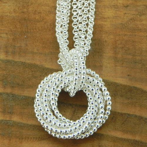Anhänger Quirl mit einer doppelten Erbskette aus Silber