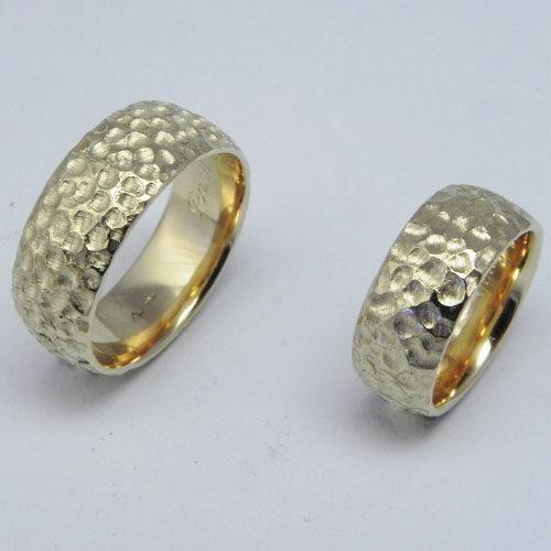 Trauringe von Kunden angefertigt aus 750/000 Gelbgold.